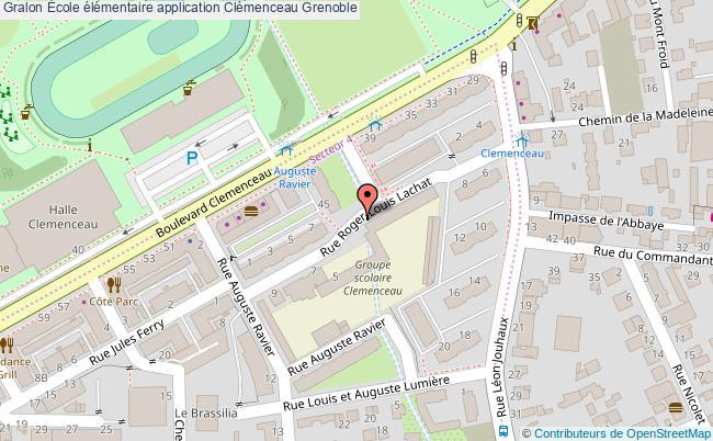 plan École élémentaire Application Clémenceau Grenoble Grenoble