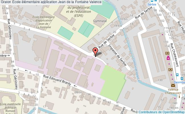 plan École élémentaire Application Jean De La Fontaine Valence Valence