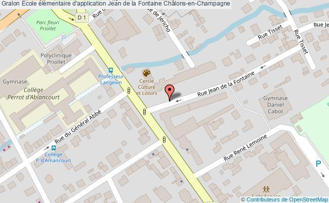 plan École élémentaire D'application Jean De La Fontaine Châlons-en-champagne Châlons-en-Champagne