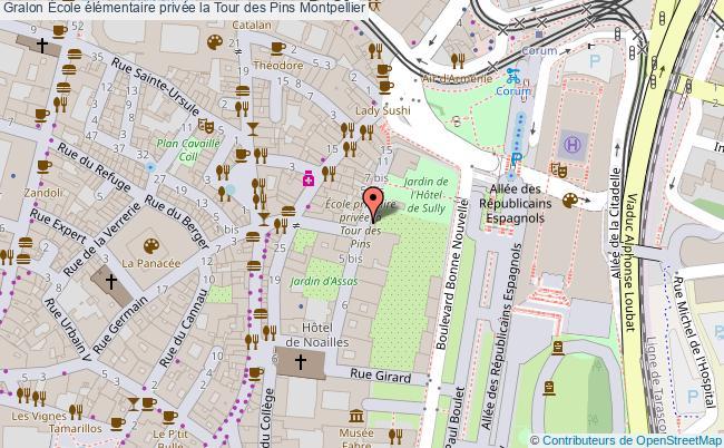plan École élémentaire Privée La Tour Des Pins Montpellier Montpellier