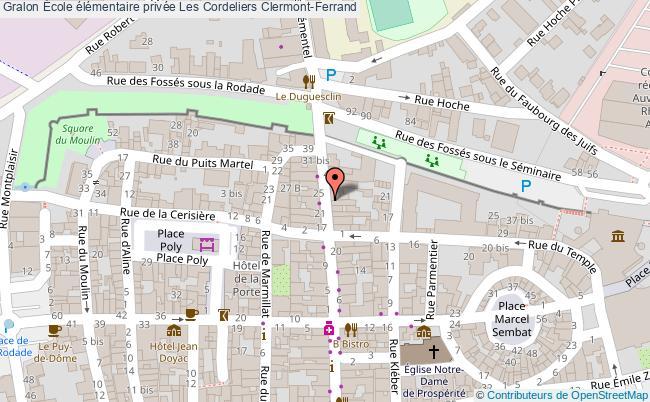 plan École élémentaire Privée Les Cordeliers Clermont-ferrand Clermont-Ferrand