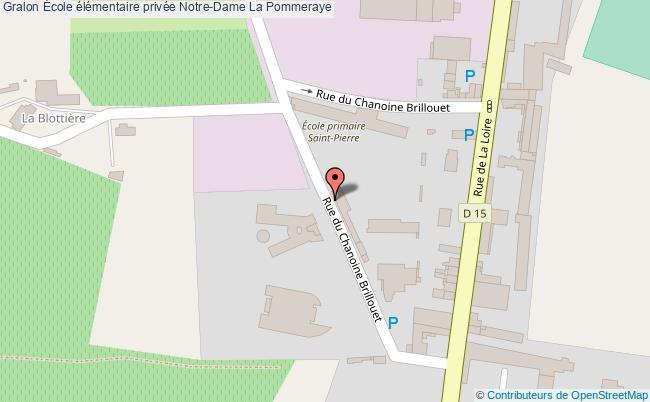 plan École élémentaire Privée Notre-dame La Pommeraye La Pommeraye