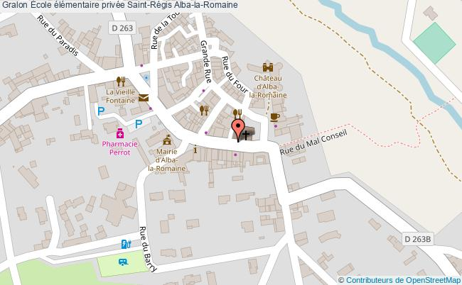 plan École élémentaire Privée Saint-régis Alba-la-romaine Alba-la-Romaine