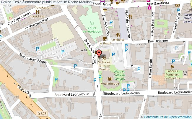 plan École élémentaire Publique Achille Roche Moulins Moulins