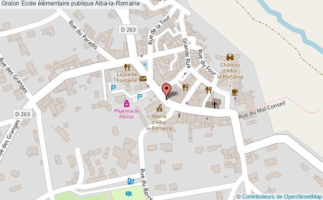 plan École élémentaire Publique Alba-la-romaine Alba-la-Romaine