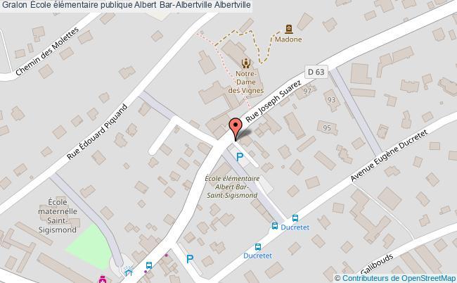 plan École élémentaire Publique Albert Bar-albertville Albertville Albertville