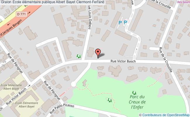 plan École élémentaire Publique Albert Bayet Clermont-ferrand Clermont-Ferrand