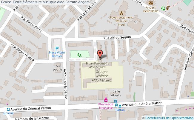plan École élémentaire Publique Aldo Ferraro Angers Angers