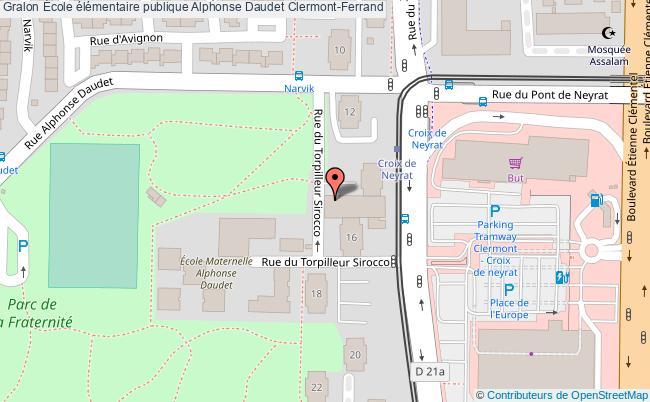 plan École élémentaire Publique Alphonse Daudet Clermont-ferrand Clermont-Ferrand