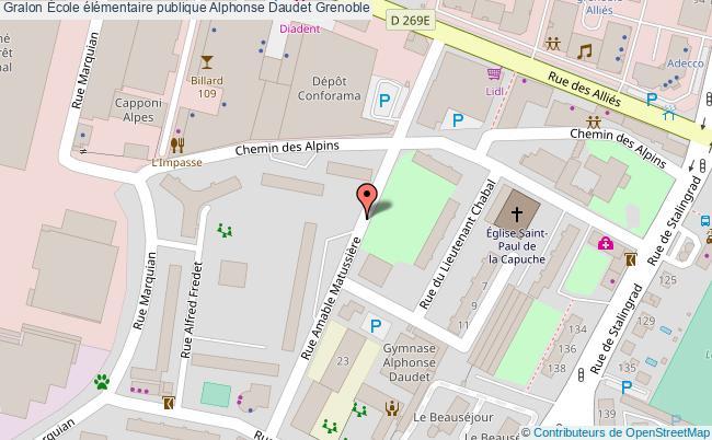 plan École élémentaire Publique Alphonse Daudet Grenoble Grenoble