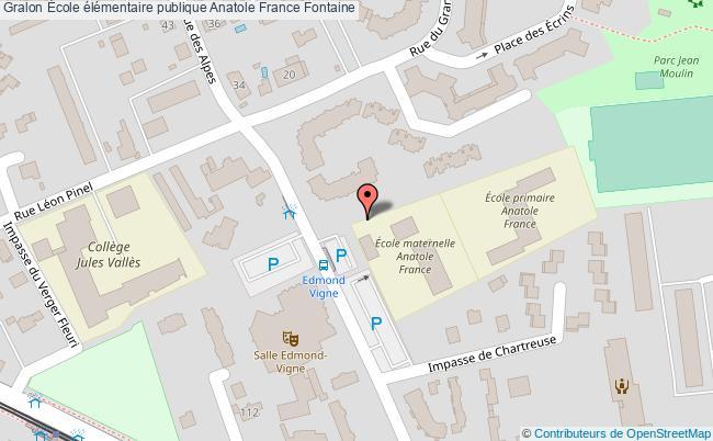 plan École élémentaire Publique Anatole France Fontaine Fontaine