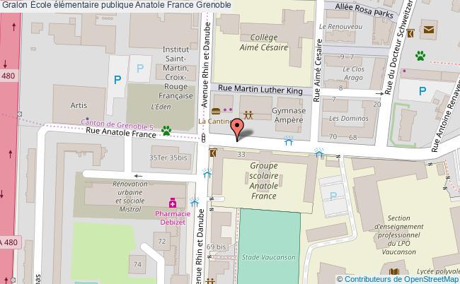 plan École élémentaire Publique Anatole France Grenoble Grenoble