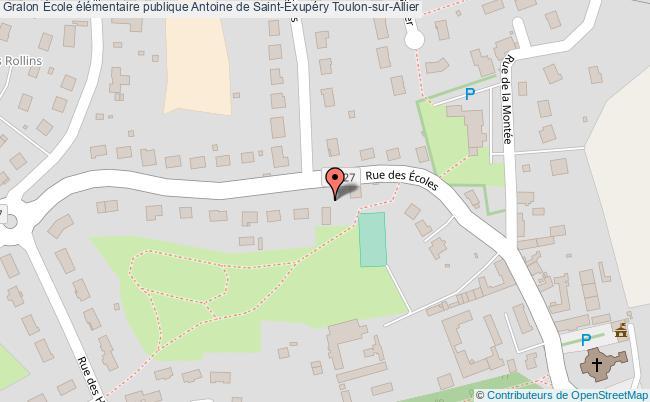 plan École élémentaire Publique Antoine De Saint-exupéry Toulon-sur-allier Toulon-sur-Allier