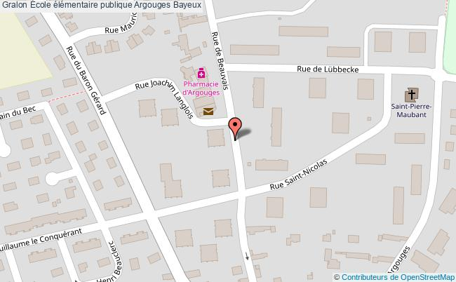 plan École élémentaire Publique Argouges Bayeux Bayeux