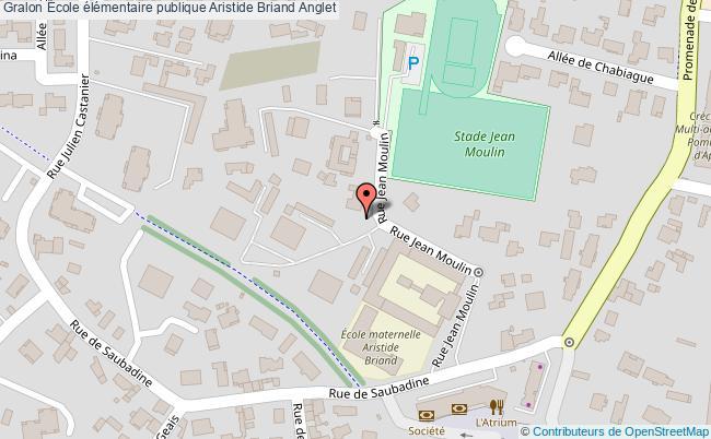 plan École élémentaire Publique Aristide Briand Anglet Anglet
