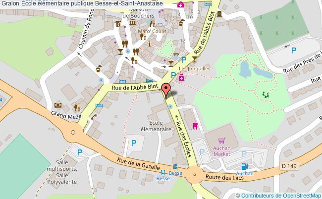 plan École élémentaire Publique Besse-et-saint-anastaise Besse-et-Saint-Anastaise