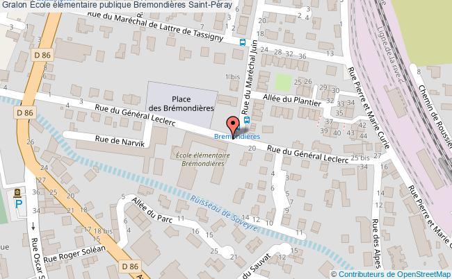 plan École élémentaire Publique Bremondières Saint-péray Saint-Péray
