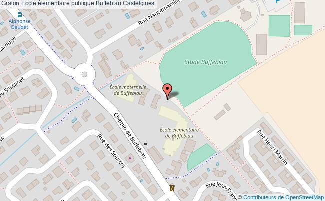 plan École élémentaire Publique Buffebiau Castelginest Castelginest