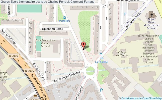 plan École élémentaire Publique Charles Perrault Clermont-ferrand Clermont-Ferrand