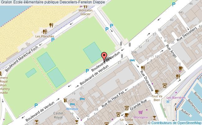 plan École élémentaire Publique Desceliers-fenelon Dieppe Dieppe