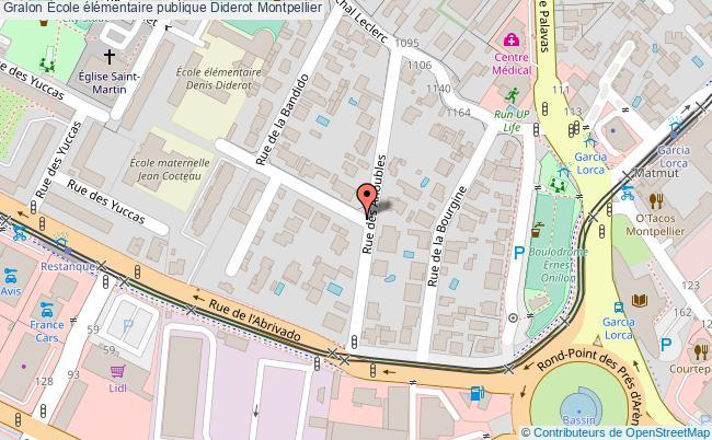 plan École élémentaire Publique Diderot Montpellier Montpellier