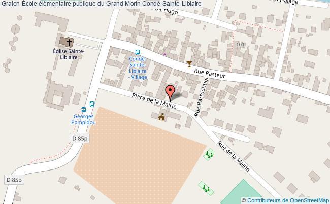 plan École élémentaire Publique Du Grand Morin Condé-sainte-libiaire Condé-Sainte-Libiaire