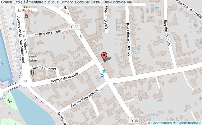 plan École élémentaire Publique Edmond Bocquier Saint-gilles-croix-de-vie Saint-Gilles-Croix-de-Vie