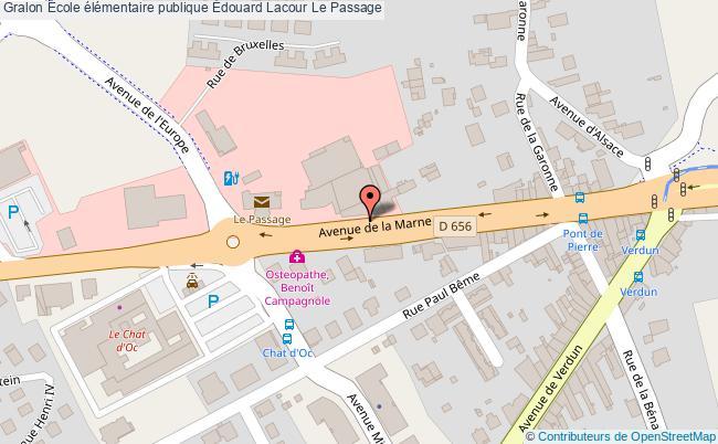 plan École élémentaire Publique Édouard Lacour Le Passage Le Passage