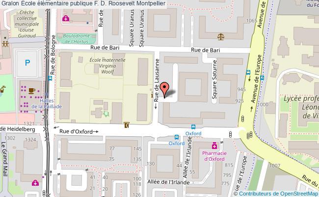 plan École élémentaire Publique F. D. Roosevelt Montpellier Montpellier