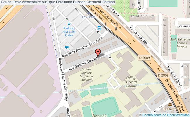 plan École élémentaire Publique Ferdinand Buisson Clermont-ferrand Clermont-Ferrand