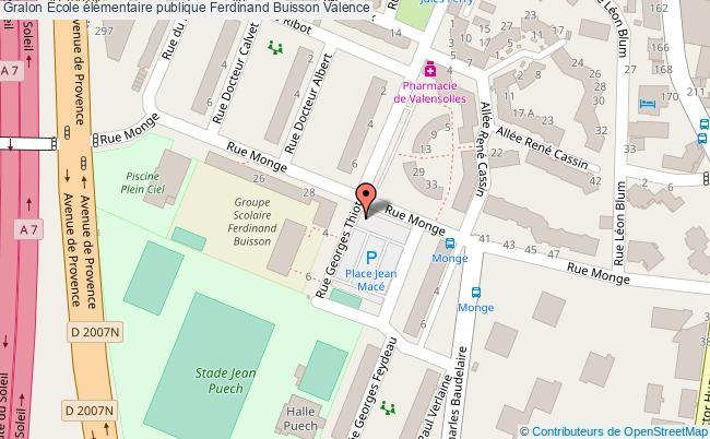 plan École élémentaire Publique Ferdinand Buisson Valence Valence