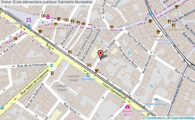 plan École élémentaire Publique Gambetta Montpellier Montpellier
