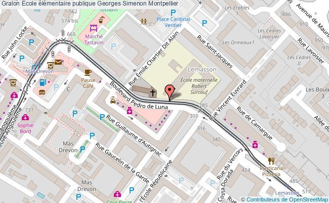 plan École élémentaire Publique Georges Simenon Montpellier Montpellier