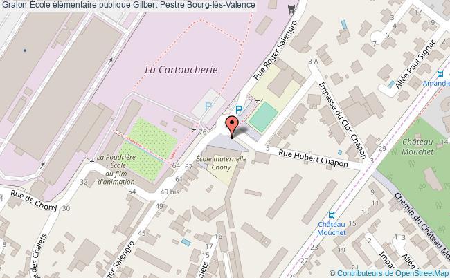 plan École élémentaire Publique Gilbert Pestre Bourg-lès-valence Bourg-lès-Valence