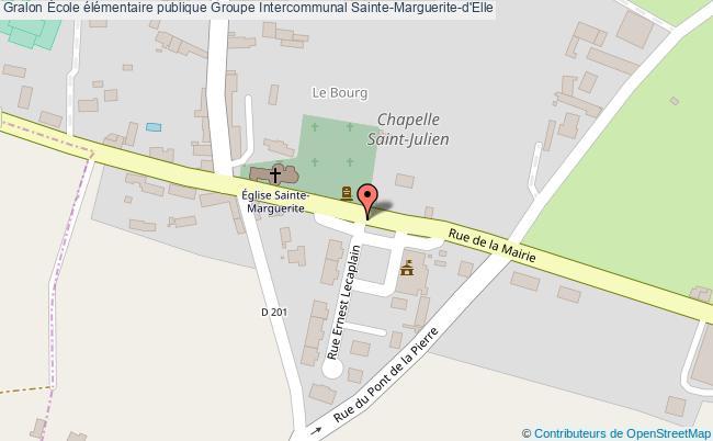 plan École élémentaire Publique Groupe Intercommunal Sainte-marguerite-d'elle Sainte-Marguerite-d'Elle