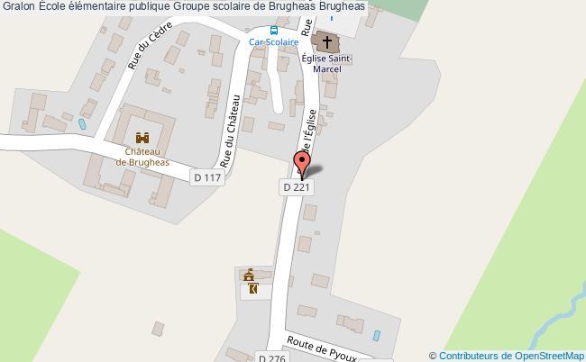 plan École élémentaire Publique Groupe Scolaire De Brugheas Brugheas Brugheas