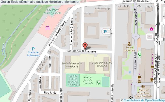plan École élémentaire Publique Heidelberg Montpellier Montpellier