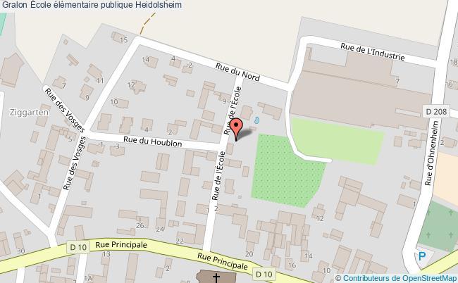 plan École élémentaire Publique Heidolsheim Heidolsheim