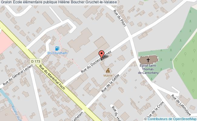plan École élémentaire Publique Hélène Boucher Gruchet-le-valasse Gruchet-le-Valasse