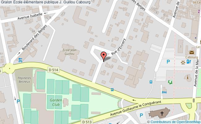 plan École élémentaire Publique J. Guillou Cabourg Cabourg