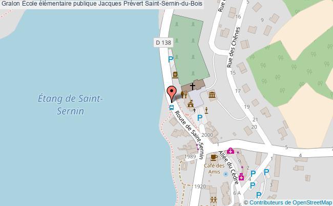 plan École élémentaire Publique Jacques Prévert Saint-sernin-du-bois Saint-Sernin-du-Bois