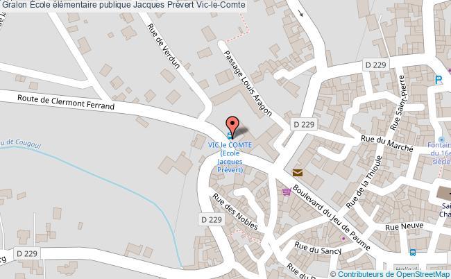 plan École élémentaire Publique Jacques Prévert Vic-le-comte Vic-le-Comte
