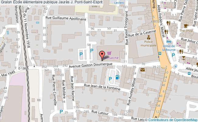 plan École élémentaire Publique Jaurès J. Pont-saint-esprit Pont-Saint-Esprit