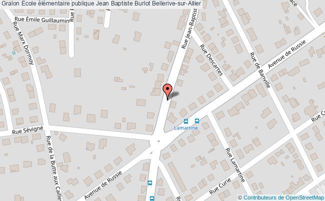 plan École élémentaire Publique Jean Baptiste Burlot Bellerive-sur-allier Bellerive-sur-Allier