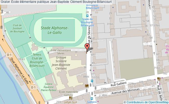 plan École élémentaire Publique Jean-baptiste Clément Boulogne-billancourt Boulogne-Billancourt