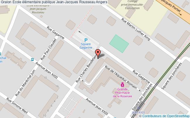 plan École élémentaire Publique Jean-jacques Rousseau Angers Angers