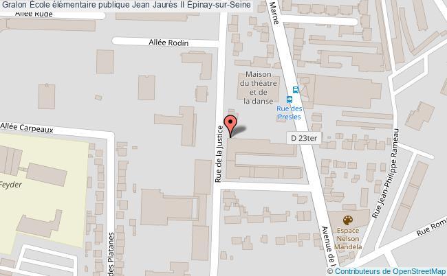 plan École élémentaire Publique Jean Jaurès Ii Épinay-sur-seine Épinay-sur-Seine