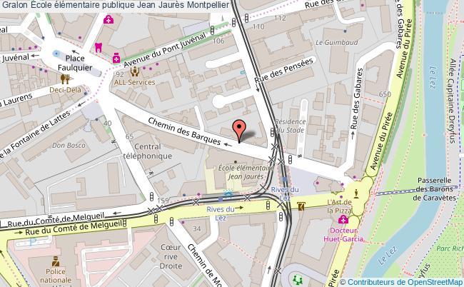 plan École élémentaire Publique Jean Jaurès Montpellier Montpellier