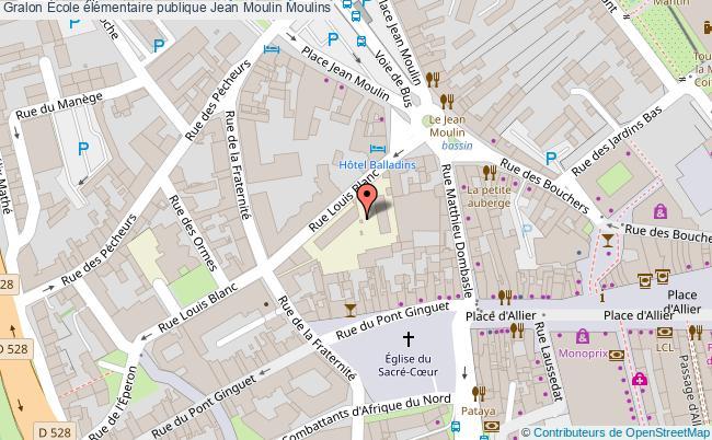 plan École élémentaire Publique Jean Moulin Moulins Moulins