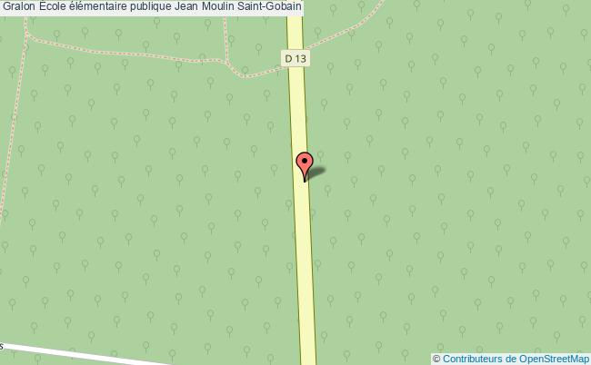 plan École élémentaire Publique Jean Moulin Saint-gobain Saint-Gobain